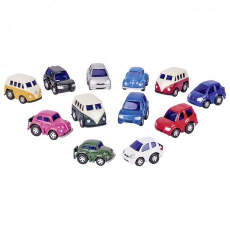 Mini træk-tilbage bil - Assorteret - Goki
