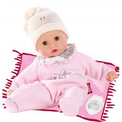 Muffin babypige i lyserød sparkedragt - Dukke - Götz