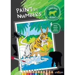 Farlige dyr - Mal efter tal malebog