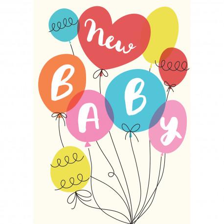 New baby - Party balloons - Kort & Kuvert