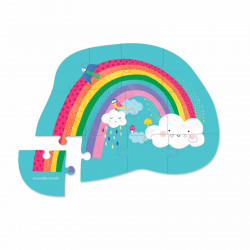 Regnbue drøm - Mini puslespil 12 brikker - Crocodile Creek