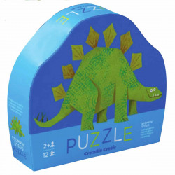 Stegosaurus - Mini puslespil 12 brikker - Crocodile Creek