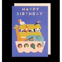 Noas Ark Happy Birthday - Kort & kuvert - Lagom