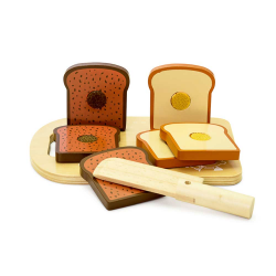 Skærebræt med brød - Legemad - Mamamemo