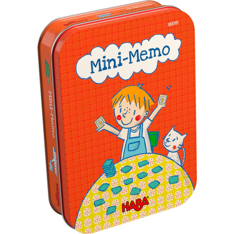 Mini Memo (Huskespil) i metalæske Haba