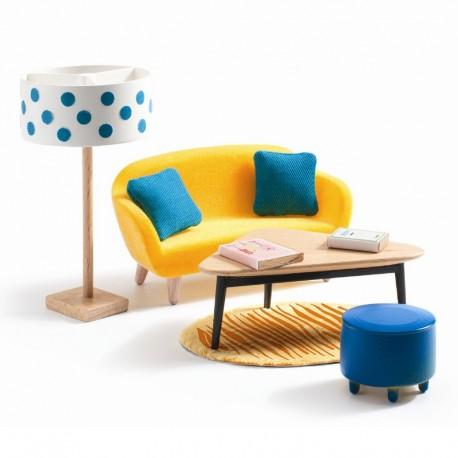 Stuen - Petit Home dukkehusmøbler - Djeco