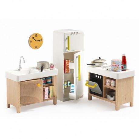 Køkken - Petit Home dukkehusmøbler - Djeco