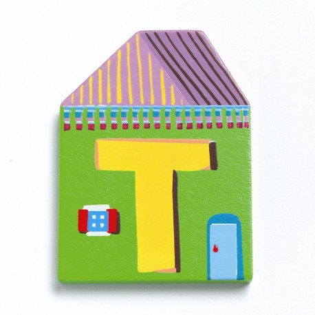 Djeco træbogstaver Hus - T
