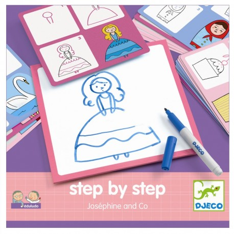 Djeco step by step tegneleg - Joséphine og Co