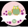 Lyserøde Ugler - Blafre navnemærke