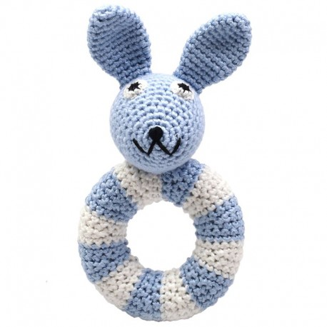 NatureZoo rund rangle - Blå kanin